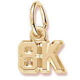 10K Gold 8K Race Accent Charm by Rembrandt Charms