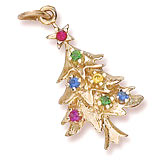 Gold Plated Christmas Tree Charm by Rembrandt Charms
