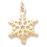 Gold Plate Snowflake Charm by Rembrandt Charms