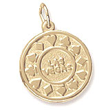 Gold Plated Las Vegas Disc Charm by Rembrandt Charms
