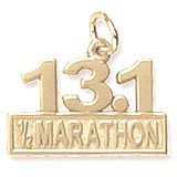 10k Gold 13.1 Marathon Charm by Rembrandt Charms