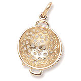 10K Gold Colander Charm by Rembrandt Charms