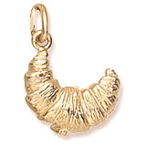 10K Gold Croissant Charm by Rembrandt Charms