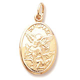 Gold Plated Saint Michael Charm by Rembrandt Charms