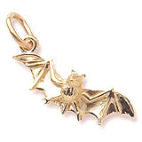 14k Gold Bat Charm by Rembrandt Charms
