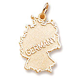 Gold Plated Germany Map Charm by Rembrandt Charms