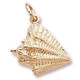 14K Gold Conch Shell Charm by Rembrandt Charms