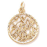 10K Gold Estes Park Faceted Charm by Rembrandt Charms