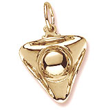 10K Gold Tri Corner Hat Charm by Rembrandt Charms