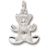 14K White Gold Teddy Bear Charm by Rembrandt Charms