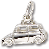 14K White Gold Classic British Car Charm by Rembrandt Charms