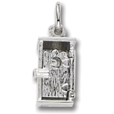 14K White Gold Outhouse Charm by Rembrandt Charms
