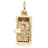 Gold Plate Outhouse Charm by Rembrandt Charms