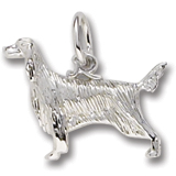 14K White Gold Irish Setter Charm by Rembrandt Charms