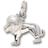 14K White Gold Small Lion Charm by Rembrandt Charms