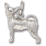 14K White Gold Chihuahua Dog Charm by Rembrandt Charms