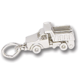 14k White Gold Dump Truck Charm opens by Rembrandt Charms