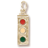 Gold Plated Traffic Light Charm by Rembrandt Charms