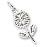 Sterling Silver Daisy Flower Charm by Rembrandt Charms