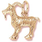 Gold Plated Billy Goat Charm by Rembrandt Charms