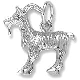14k White Gold Billy Goat Charm by Rembrandt Charms