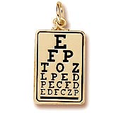 10K Gold Eye Exam Chart Charm by Rembrandt Charms