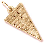 Gold Plate Class of 2013 Charm by Rembrandt Charms