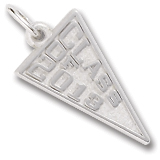 14K White Gold Class of 2013 Charm by Rembrandt Charms