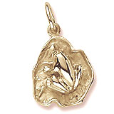 14K Gold Frog on a Lily Pad Charm by Rembrandt Charms