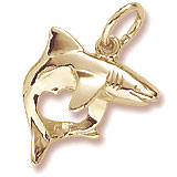 14K Gold Shark Charm by Rembrandt Charms