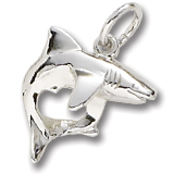 14K White Gold Shark Charm by Rembrandt Charms