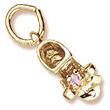 10K Gold Birth Month 10 Oct Bootie Accent by Rembrandt Charms