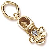 10K Gold Birth Month 12 Dec Bootie Accent by Rembrandt Charms