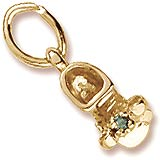 10K Gold Birth Month 05 May Bootie Accent by Rembrandt Charms