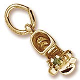 Gold Plate Birth Month 08 Aug Bootie Accent by Rembrandt Charms
