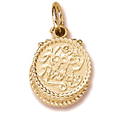 Gold Plated Happy Birthday Cake Charm by Rembrandt Charms