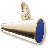 10K Gold Flat Painted Megaphone Charm by Rembrandt Charms