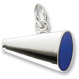 14K White Gold Flat Painted Megaphone Charm by Rembrandt Charms
