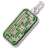 14K White Gold Craps Table Charm by Rembrandt Charms