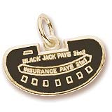10K Gold Black Jack Table Charm by Rembrandt Charms