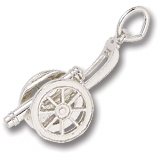 14K White Gold Cannon Charm by Rembrandt Charms
