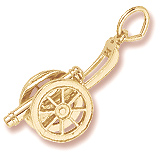 10K Gold Cannon Charm by Rembrandt Charms