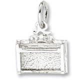 Sterling Silver Piano Spinet Upright Charm by Rembrandt Charms