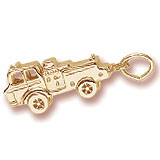 10K Gold Fire Truck Charm by Rembrandt Charms