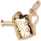Gold Plate Watering Can Charm by Rembrandt Charms