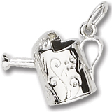 14K White Gold Watering Can Charm by Rembrandt Charms