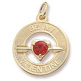 14K Gold Be My Valentine Charm