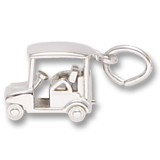 14K White Gold Golf Cart Charm by Rembrandt Charms