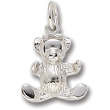 Sterling Silver Teddy Bear Charm by Rembrandt Charms