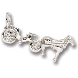 14K White Gold Horse and Carriage Charm by Rembrandt Charms
